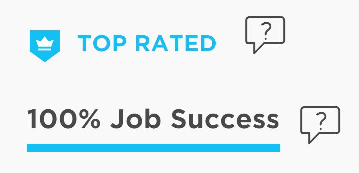 Значок Top Rated на Upwork