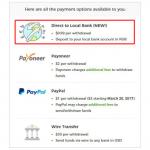 Вывод денег с Upwork: Direct to Local Bank. Преимущества и недостатки