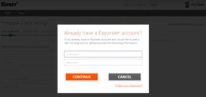 Привязка счета Payoneer к Fiverr